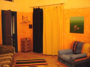 Agriturismo La dolce vita lipari-orange room.